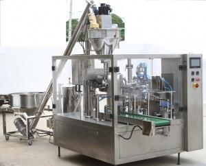 China Automatic Powder Auger Filler Premade Pouch Packing Machine on sale