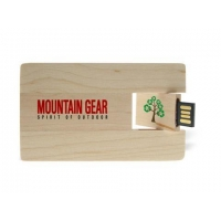 China wooden card USB Flash Drive wafer card usb flash drive with custom logo on sale