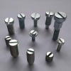 China Titanium slotted cheese head screws for sale