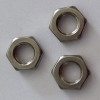 China Titanium hex thin nuts for sale