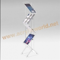 China Jewellery display stand floor clear acrylic magazine display case for office on sale