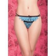 China Sexy Women Lace Plaid Double String G-string Pantie Thong Item ID: 03705619 on sale