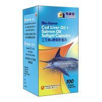 Bio-home Cod Liver Oil + Salmon Oil Softgel Capsules