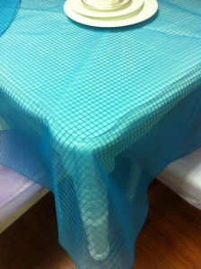 China round table with cloth Organza Round Table Cloth on sale
