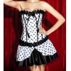 China Sexy Corsets Item No.1235-1 corset mini skirt costume for sale