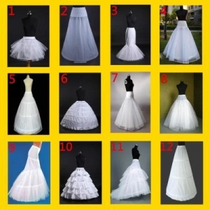 China White bridal wedding dress prom petticoat underskirt skirt crinoline on sale