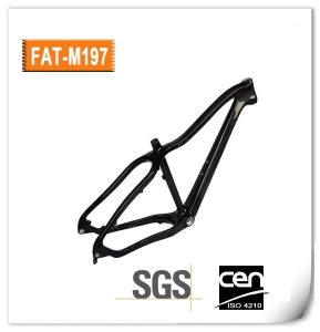 China OEM 26er MTB Full Carbon Fat Bike Frame - M197 on sale