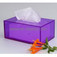 China Factory custom acrylic box crystal tissue box small acrylic box DBS-101 on sale