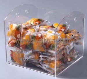 China Wholesale acrylic small acrylic box plexiglass food display case acrylic display case FD-080 on sale