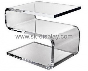 China Custom acrylic bedroom furniture modern clear acrylic trunk table bedside table AFS-100 on sale