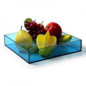China China acrylic factory wholesale food grade acrylic plastic fruit tray FD-064 on sale