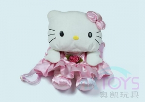 China Pet Dog Plush Toy Princess Hello Kitty Children's backpack on sale