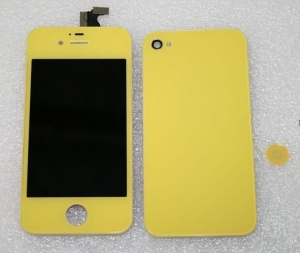 China FULL KIT - IPHONE 4 CDMA COMPATIBLE , LCDDIGITIZER + BACK DOOR + HOME BUTTON (YELLOW COLOR) NO LOGO on sale