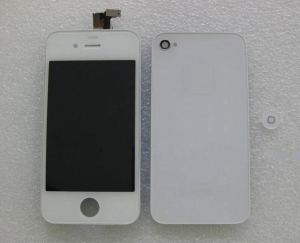 China FULL KIT - IPHONE 4 CDMA COMPATIBLE , LCDDIGITIZER + BACK DOOR + HOME BUTTON (WHITE COLOR) NO LOGO on sale