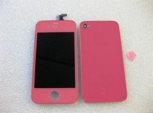 China FULL KIT - IPHONE 4 CDMA COMPATIBLE , LCDDIGITIZER + BACK DOOR + HOME BUTTON (PINK COLOR) NO LOGO on sale