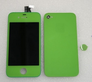 China FULL KIT - IPHONE 4 CDMA COMPATIBLE , LCDDIGITIZER + BACK DOOR + HOME BUTTON (GREEN COLOR) NO LOGO on sale