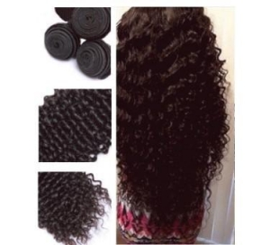 China European hair weave 100g/pc unprocessed natural color deep wave weave-WSH013 on sale