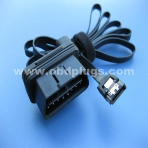 China 90 degree OBD2 male connector to SATA cable on sale