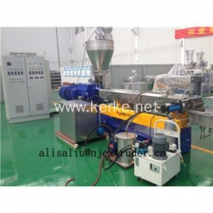 China PP PE PA PS compounding masterbatch parallel co-rotating twin screw extruder on sale