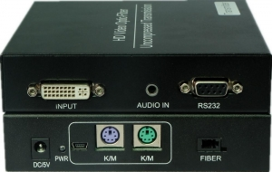 China DVI fiber extender with KVM on sale