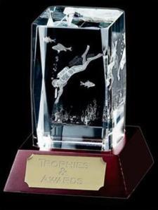 China Optical Crystal Scuba Diving Award on sale