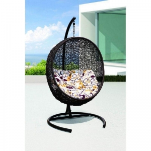 China patio rattan egg chair garden swing chairs manufacturer OMR-C047 on sale