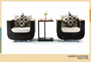 China modern outdoor wicker sofa furniture with end table OMR-F200 on sale