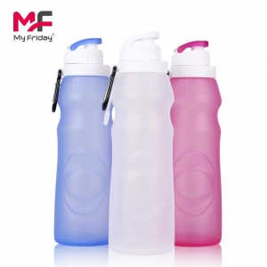 China collapsible silicone water bottles on sale