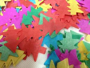 China Christmasmixedcolortreeshapetissueconfetti on sale