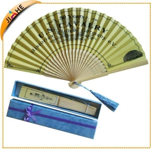 China Personalized Bamboo hand fan with tassel on sale