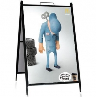 Double sided Outdoor Metal A Frame Poster Stand Pavement Signs