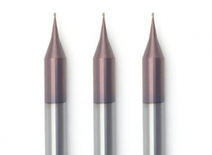 China 2 Flute Micro Flat End Mills For 55HRC With TiAlN Coated on sale