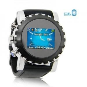 China W958 Quad Band Single SIM Card Camera Stainless Steel Touch FM Mp3 Watch mobile Phone on sale
