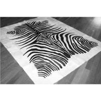 Hairon Zebra Printed Cow Rug