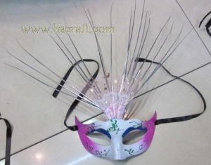 China bsm211 feather mask/halloween mask/decorative mask with handle/holiday mask/masquerade mask on sale