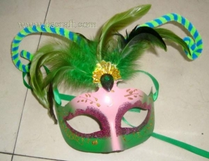 China bsm204 feather mask/halloween mask/decorative mask with handle/holiday mask/masquerade mask on sale