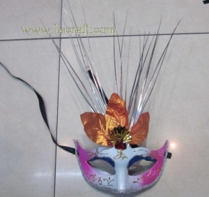 China bsm210 feather mask/halloween mask/decorative mask with handle/holiday mask/masquerade mask on sale