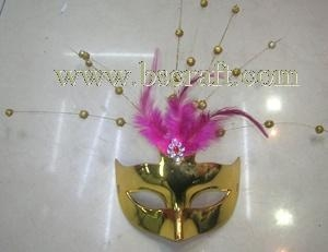 China bsm207 feather mask/halloween mask/decorative mask with handle/holiday mask/masquerade mask on sale