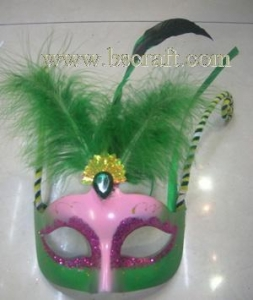 China bsm205 feather mask/halloween mask/decorative mask with handle/holiday mask/masquerade mask on sale