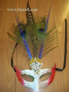 China bsm236 feather mask/halloween mask/decorative mask with handle/holiday mask/masquerade mask on sale