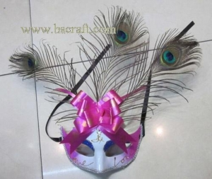 China bsm231 feather mask/halloween mask/decorative mask with handle/holiday mask/masquerade mask on sale