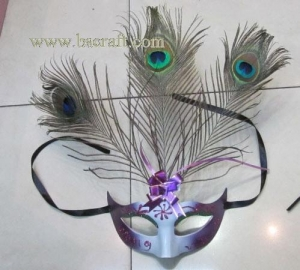 China bsm235 feather mask/halloween mask/decorative mask with handle/holiday mask/masquerade mask on sale