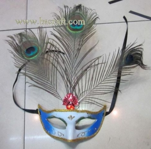 China bsm232 feather mask/halloween mask/decorative mask with handle/holiday mask/masquerade mask on sale