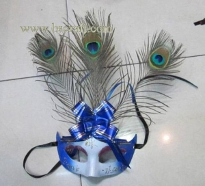 China bsm234 feather mask/halloween mask/decorative mask with handle/holiday mask/masquerade mask on sale