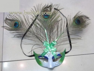 China bsm230 feather mask/halloween mask/decorative mask with handle/holiday mask/masquerade mask on sale