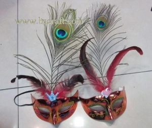 China bsm217 feather mask/halloween mask/decorative mask with handle/holiday mask/masquerade mask on sale
