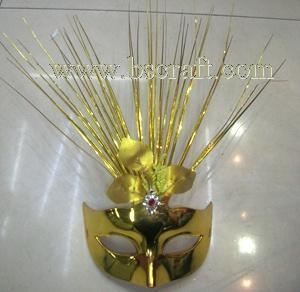 China bsm215 feather mask/halloween mask/decorative mask with handle/holiday mask/masquerade mask on sale
