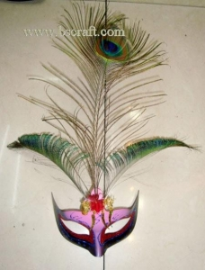 China bsm228 feather mask/halloween mask/decorative mask with handle/holiday mask/masquerade mask on sale