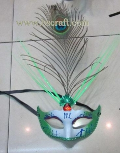 China bsm218 feather mask/halloween mask/decorative mask with handle/holiday mask/masquerade mask on sale