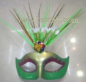 China bsm216 feather mask/halloween mask/decorative mask with handle/holiday mask/masquerade mask on sale